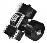 Гантелі розбірні 2 шт по 34 кг сталеві з порошковим фарбуванням