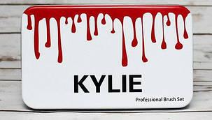 Набор кисточек для макияжа в стиле Kylie Professional Brush Set большие белые 12 штук, фото 2