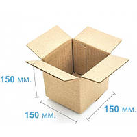 Коробка картонная (150 х 150 х 150) , бурая