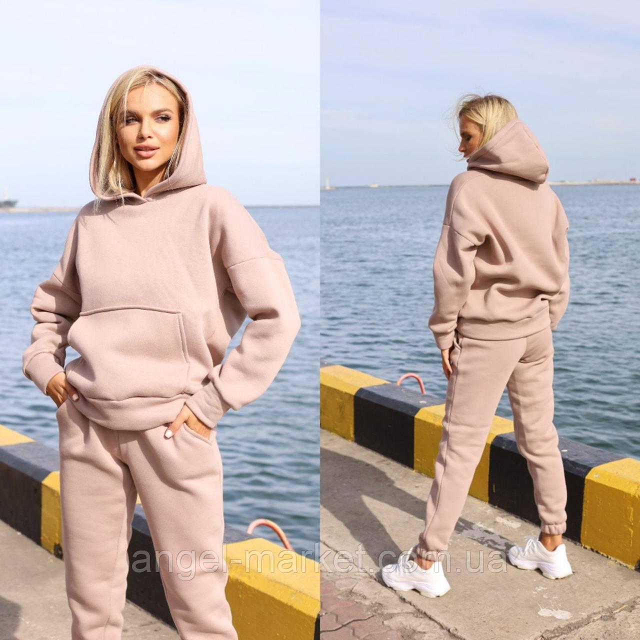 Женский теплый спортивный костюм на флисе  Новинка 2020