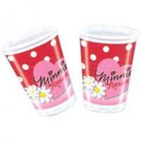 Пластиковые стаканы Минни