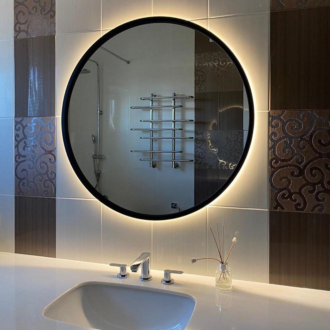 Зеркало лофт c подсветкой Round led-2 R2