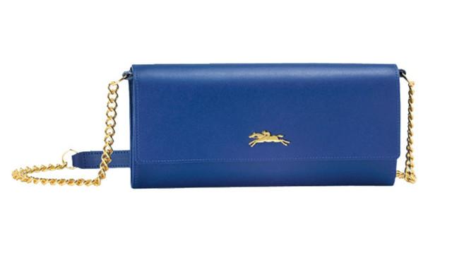 Женский кошелек Longchamp Onore 404 синий