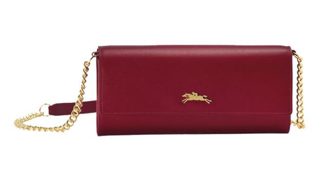 Женский кошелек Longchamp Onore 404 бордовый