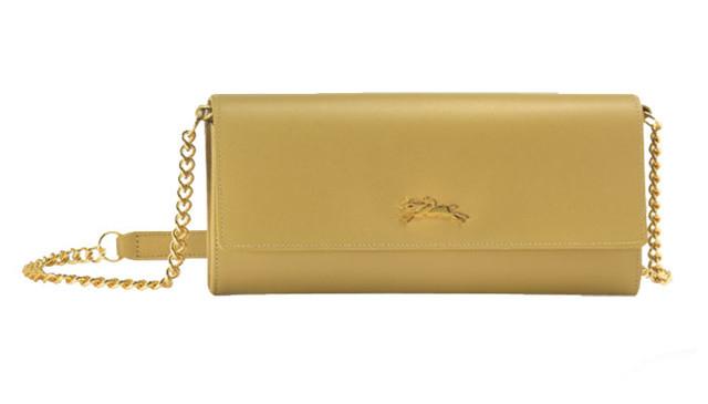 Женский кошелек Longchamp Onore 404 желтый