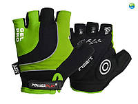 Велоперчатки PowerPlay 5015 B Зелёные XS, S, M, L, XL, XXL (выбор внутри)