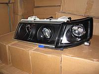Фары передние на ВАЗ 2110 (черные) стиль Мерседес.