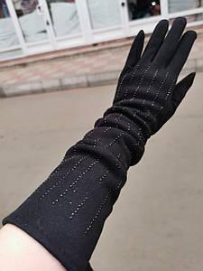(55 cm)Довгі трикотажні жіночі рукавички тільки оптом