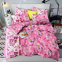 Детская постель Лол. Полуторный Комплект детского постельного белья с куклами. Ткань Бязь, Коттон