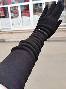 (50 cm)Довгі трикотажні жіночі рукавички тільки оптом