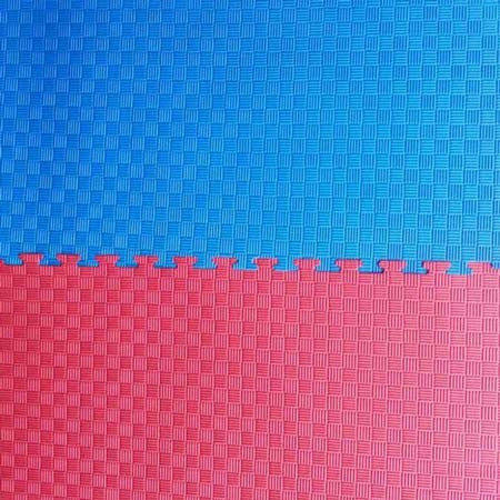 "Мат ""ласточкин хвост"" 1мх1мх3см, красно-синий"