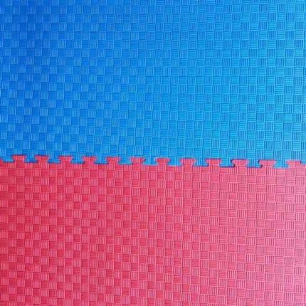 """Мат """"ласточкин хвост"""" 1мх1мх3см, красно-синий, фото 2"""