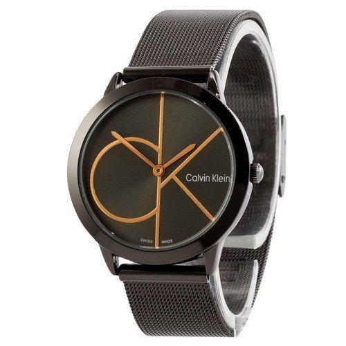 Часы Женские Кельвин Кляйн Ca***n Kl**n Black-Cuprum  Браслет , золотисто-черные