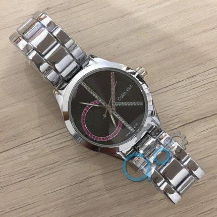 Часы Женские Кельвин Кляйн Ca***n Kl**n  8302CZM Silver-Black Браслет, фото 2