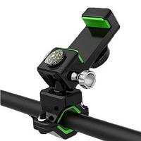 Универсальный велосипедный держатель для телефона Q003 + 2Led чорний q003
