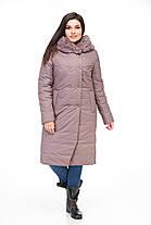 Зимовий жіночий пуховик-куртка із штучним хутром Розміри 56 58 60, фото 3