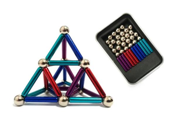 Магнитный неодимовый конструктор цветной (бакибарс) 63-деталей