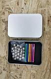 Магнитный неодимовый конструктор цветной (бакибарс) 63-деталей, фото 2