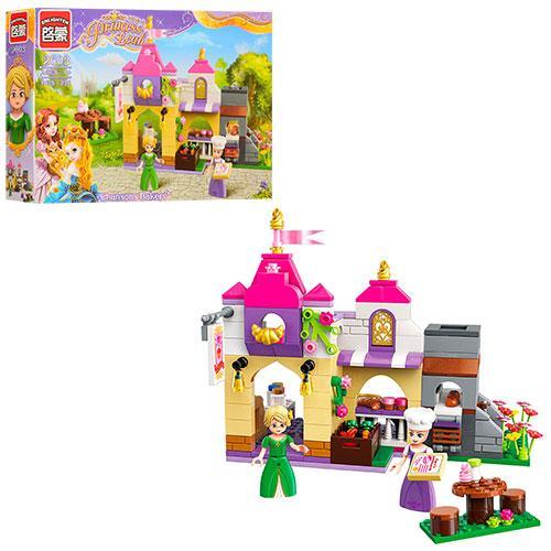 Конструктор Qman 2603 (18шт) розовая серия, дом, фигурки,236дет, в кор-ке,32,5-22-6см