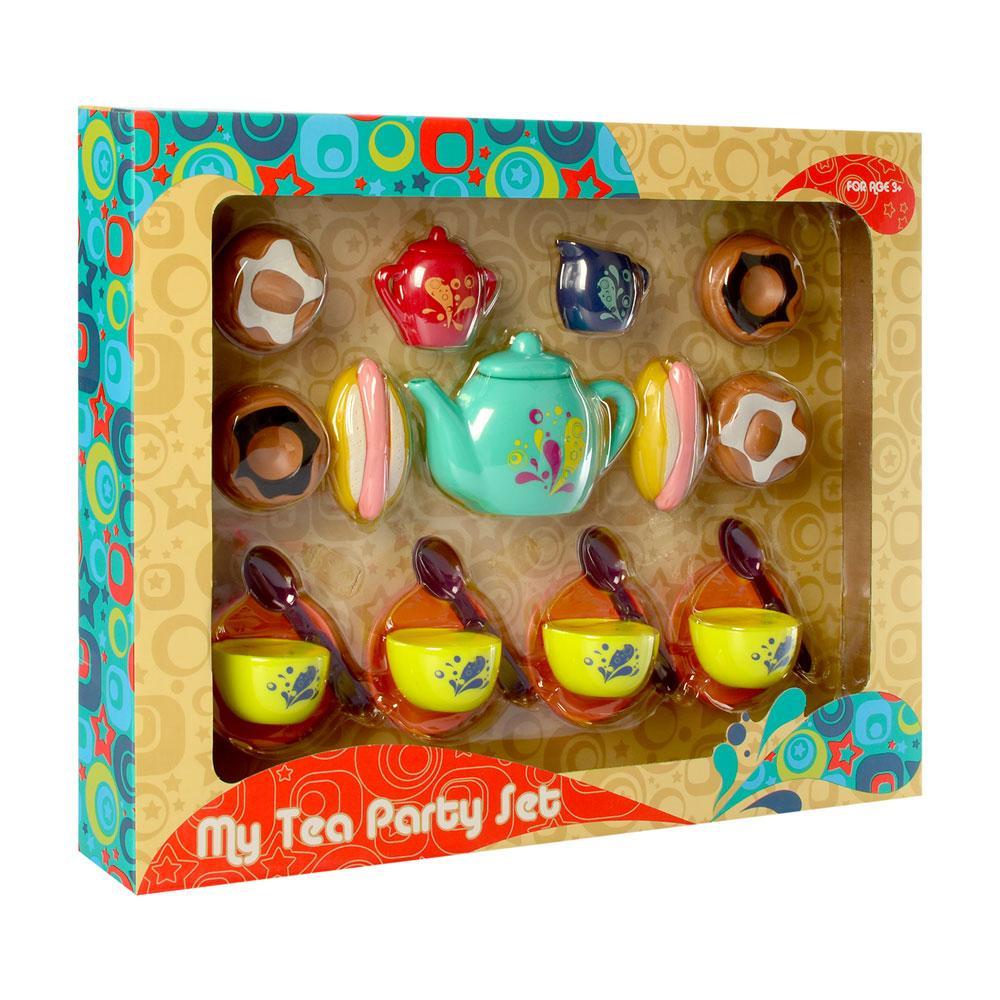 Детская Посуда чайный сервиз на 4персоны, сладости, сосиска в тесте, в кор-ке, 46,5-37-7см