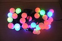 Гирлянда новогодняя шарик 50 л, мультиколор