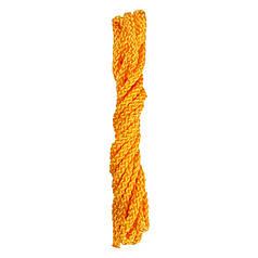 Скакалка гимнастическая желтая, полиэстер