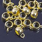 Бейл Металлический, Тибетский Стиль, Рондель, Цвет: Золото, Размер: 8х5мм, Отверстие 2мм и 3.5мм/ Упак.: 20 шт, фото 2