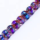 Бусины Стеклянные Волочильные, Круглые, Цвет: Сиренево-фиолетовый CD 38, Размер: 4мм, Отверстие 1.5мм, около 200шт/80см/нить, фото 2
