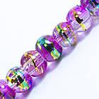 Бусины Стеклянные Волочильные, Круглые, Цвет: Розовый CD31, Размер: 6мм, Отверстие 1.5мм, около 135шт/81см/нить, фото 2