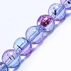 Бусины Стеклянные Волочильные, Круглые, Цвет: Розово-голубой Y17, Размер: 6мм, Отверстие 1.5мм, около 135шт/81см/нить, фото 2