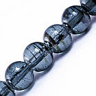 Бусины Стеклянные Волочильные, Круглые, Цвет: Темно-серый Y12, Размер: 8мм, Отверстие 1.5мм, около 100шт/80см/нить, фото 2