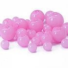 Бусины Акриловые Желейные, Круглые, Цвет: Розовый, Микс, Отверстие 2мм, около 140~235шт/50г/ Упак.: 50 г, фото 2