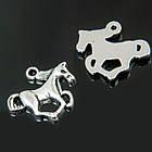 Кулон Лошадь, Металл, Цвет: Античное Серебро, Размер: 20х15х2.5мм, Отверстие 2мм/ Упак.: 10 шт, фото 2