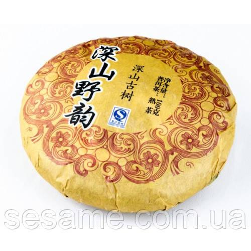 "Чай шу пуэр ""Shen San Gu Yun"" 100 гр. 2008г."