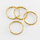 Кольцо Замочек, для Брелков и Ключей, Железное, Цвет: Золото, Диаметр 25мм, Толщина 1мм/ Упак.: 20 шт, фото 2