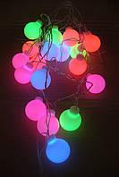Гирлянда новогодняя шарик крупный 20 л