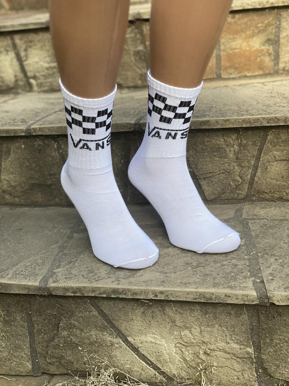 Жіночі білі високі шкарпетки Vans 36-40 12 шт в уп