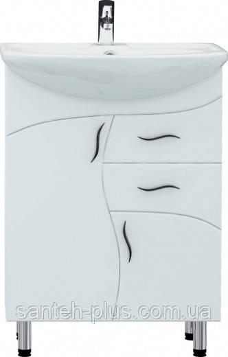 Тумба для ванной комнаты Стандарт Т7 с умывальником Эпика-60