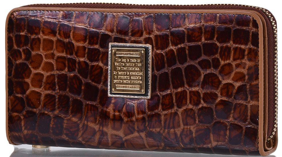 Зручний шкіряний гаманець WANLIMA (ВАНЛИМА) W82022679997-light-coffee (коричневий)