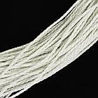 Шнур Искусственная Кожа, Плетеный, Цвет: Белый, Размер: Диаметр 3мм/ Упак.: 5 м, фото 2