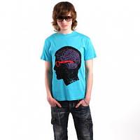 Мужская футболка с нанесением печати, рисунок мозг
