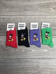 Підліткові теніска шкарпетки Super socks Мікімаус розмір 36-40 12 шт в уп