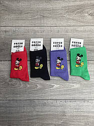 Подростковые тенниски носки Super socks Микимаус размер 36-40 12 шт в уп