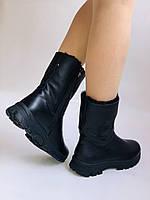 Зимние ботинки на натуральном меху на широкую ногу на низкой подошве натуральная кожа.24pfm  Р.36.38.39. 40., фото 6