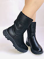 Зимние ботинки на натуральном меху на широкую ногу на низкой подошве натуральная кожа.24pfm  Р.36.38.39. 40., фото 2