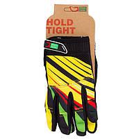 Перчатки Green Cycle NC-2369-2014 MTB с закрытыми пальцами XL желто-красные