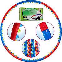 Массажный обруч 72 элемента хула-хуп JS-6003 антицелюллитный гимнастический вес=1,5 кг , d=98 cm Т