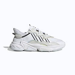 Кроссовки Adidas Ozweego White Black Белые мужские