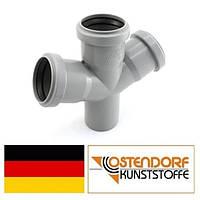 Крестовина PP 50/50/50х67 внутренней канализации Ostendorf HT Германия