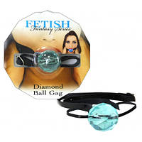 Кляп Diamond Ball Gag блакитний
